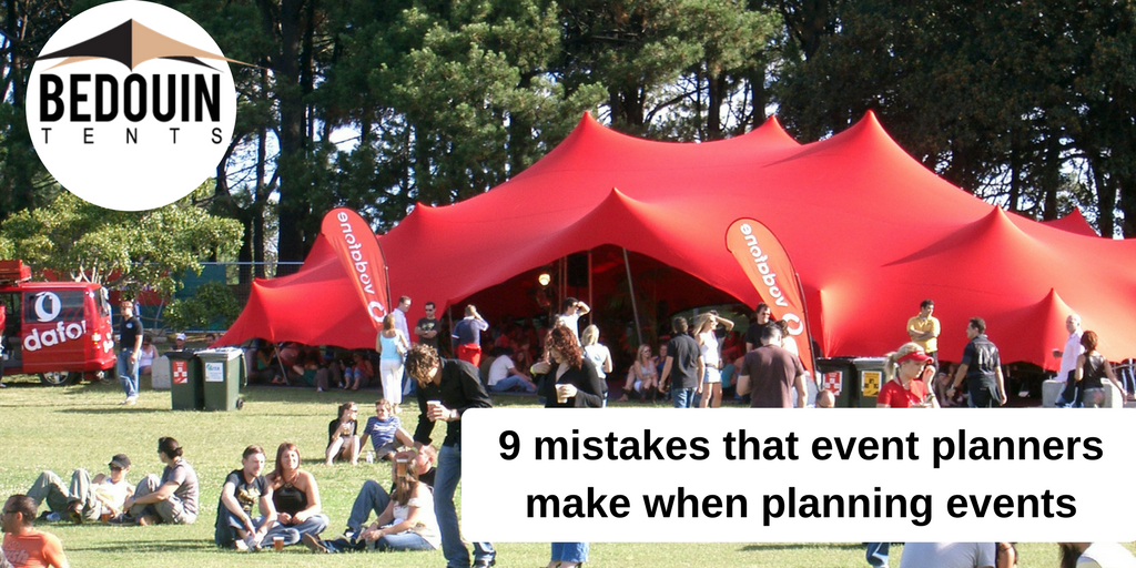 9 mistakes that event planners make when planning events