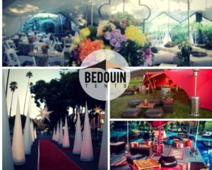 Some of the lighting and decor options at Bedouin Tents