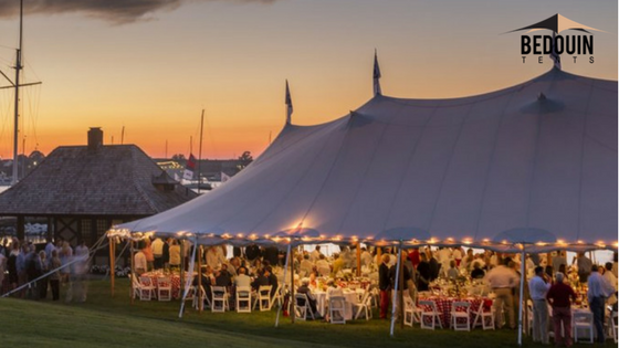 Large Wedding Tent with Fairy Lights