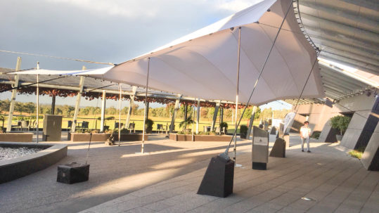 12x8 White Stretch Tent Roche Estate, The Barrel Room Hunter Valley